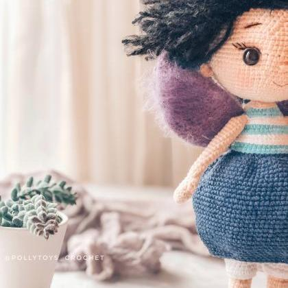 Crochet PATTERN doll blueberry fair..