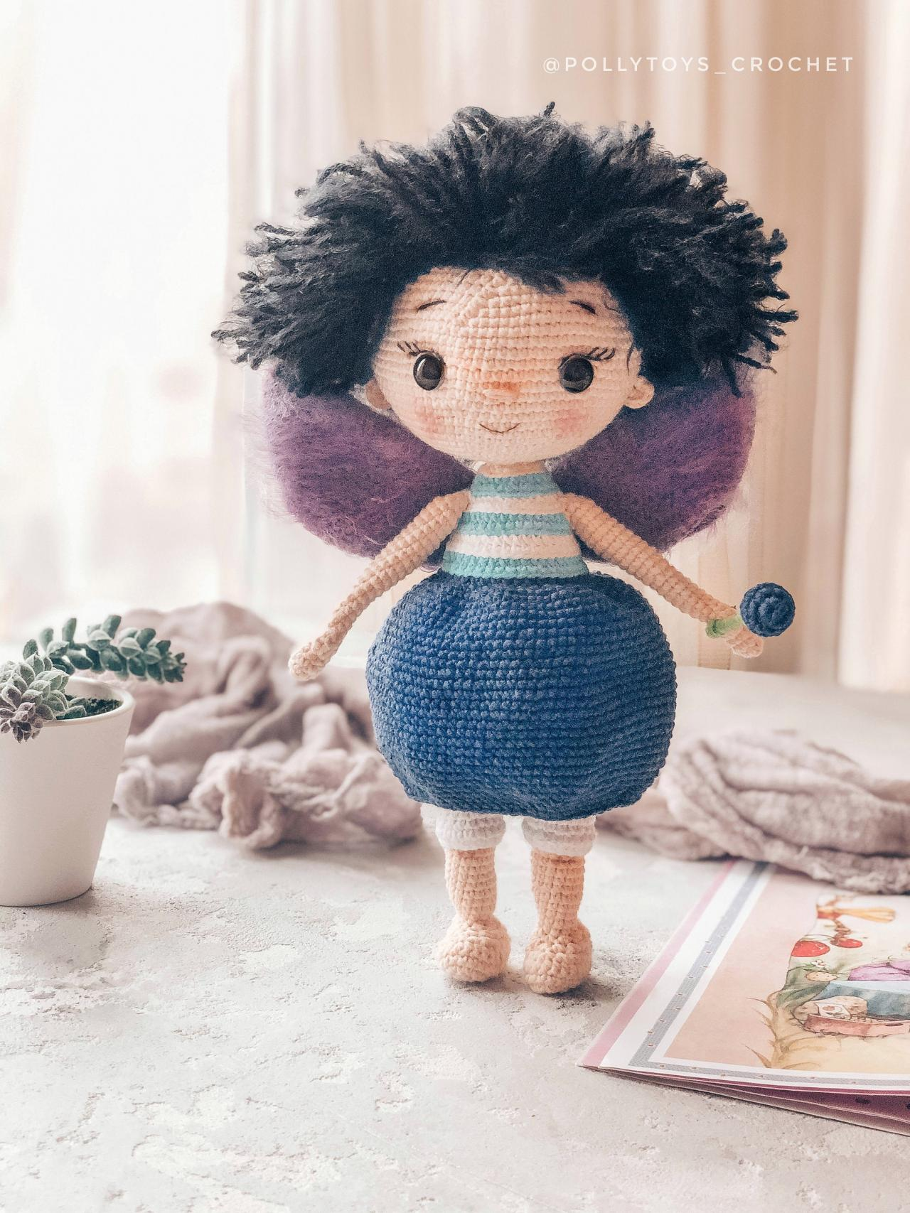 Crochet PATTERN doll blueberry fairy amigurumi crochet toy amigurumi doll crochet fairy crochet doll crochet patterns amigurumi pattern