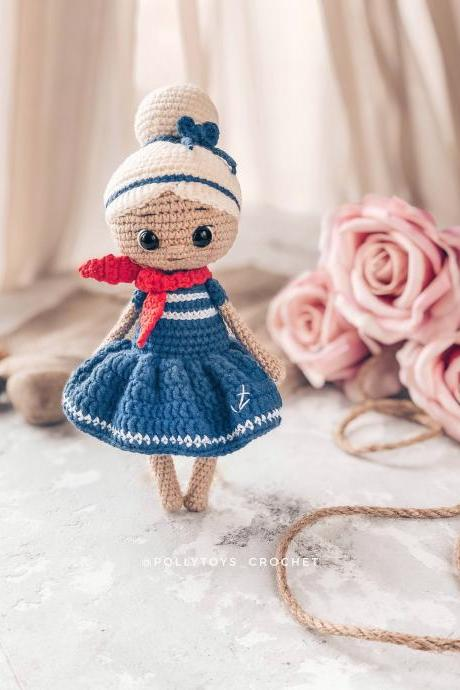 Crochet PATTERN sailor girl Betty Amigurumi doll Crochet toy Crochet doll Crochet pattern Amigurumi pattern Doll pattern PDF English pattern