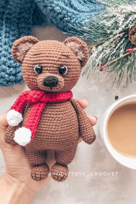 Crochet PATTERN bear amigurumi crochet toy amigurumi bear amigurumi toy crochet bear crochet patterns amigurumi pattern