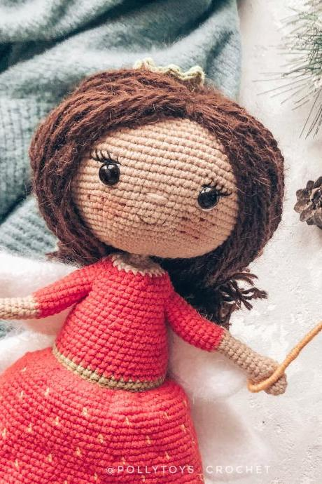 Crochet PATTERN doll strawberry fairy amigurumi crochet toy amigurumi doll crochet fairy crochet doll crochet patterns amigurumi pattern