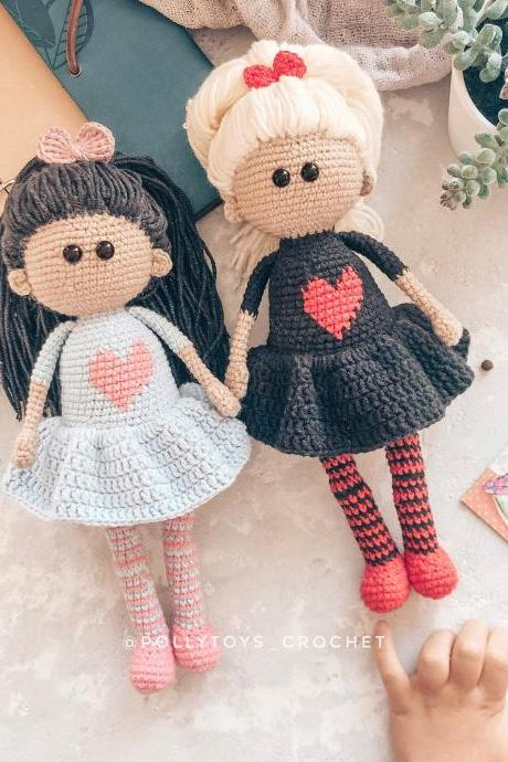 Crochet PATTERN doll amigurumi crochet toy amigurumi doll amigurumi toy crochet doll crochet patterns amigurumi pattern doll pattern