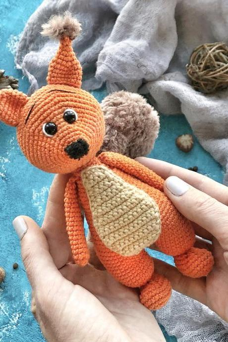 Crochet PATTERN squirrel amigurumi crochet toy amigurumi squirrel amigurumi toy crochet squirrel crochet patterns amigurumi pattern