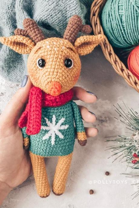Crochet PATTERN deer amigurumi crochet toy amigurumi deer amigurumi toy crochet deer crochet patterns amigurumi pattern christmass pattern